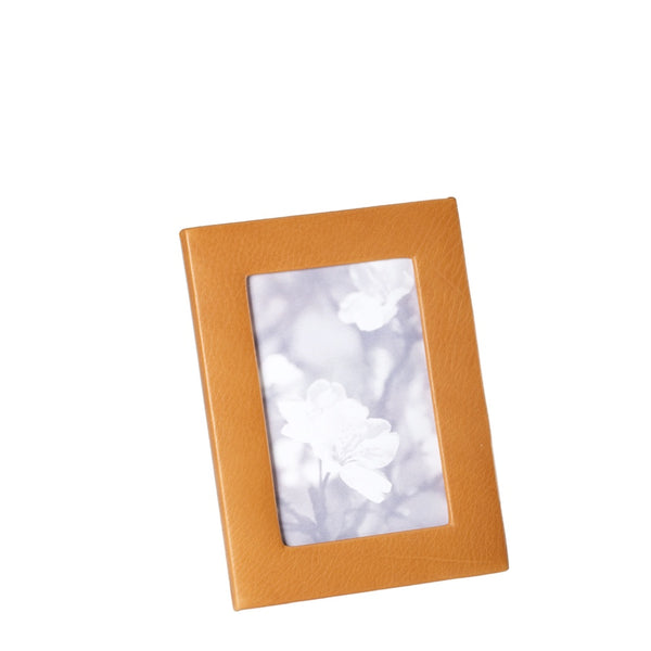 picture frame 5x7 leather british tan