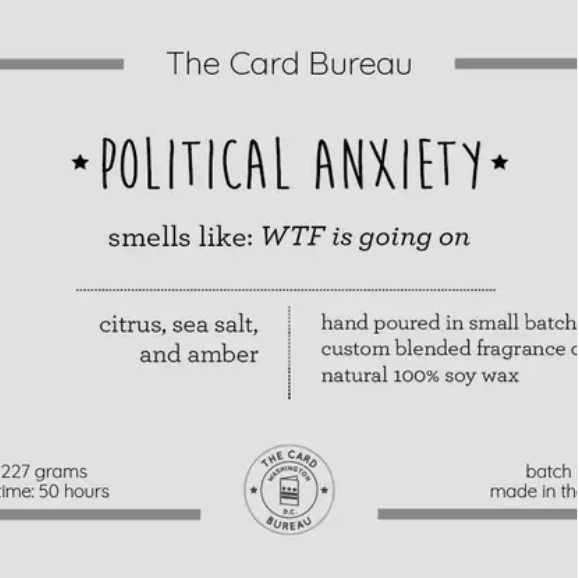 Political Anxiety Candle - The National Memo