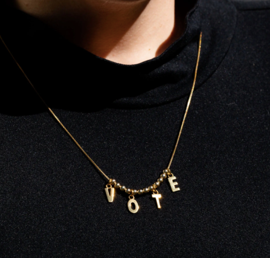 Adjustable Gold Vote Necklace - The National Memo