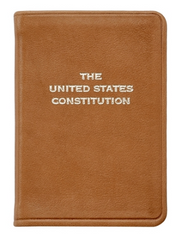 Mini United States Constitution- Traditional Leather - The National Memo