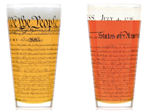 Historical Pint Glasses Set
