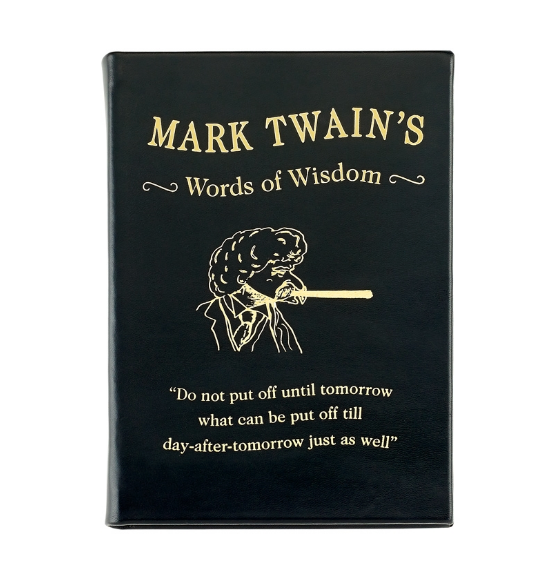 Mark Twain's Words of Wisdom Black Traditional Leather - The National Memo