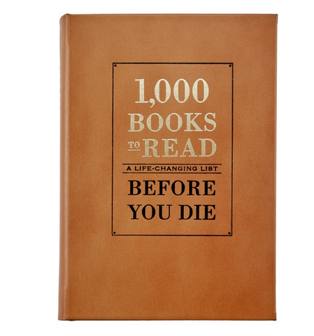 1,000 Books to Read Before You Die Tan Genuine Leather - The National Memo