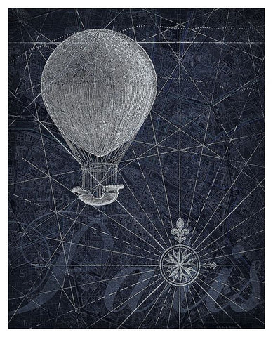 Hot Air Balloon Over Paris Art Print