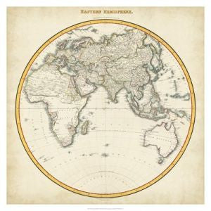 Antique Map Art Print 1812 Eastern Hemisphere
