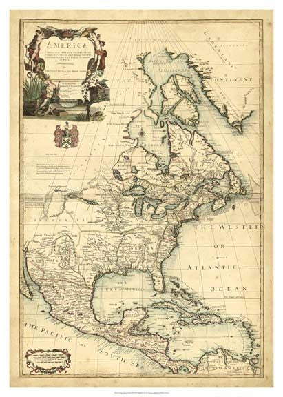 Antique Map of America Art Print - The National Memo