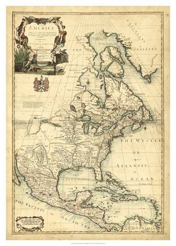 Antique Map of America Art Print