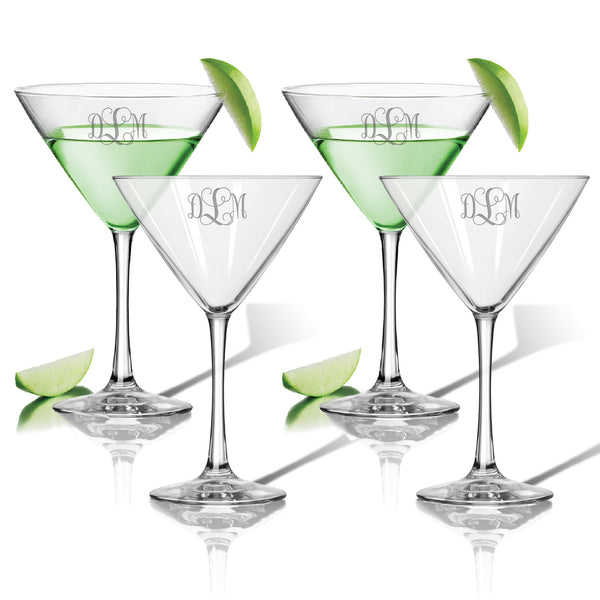 Personalized Cocktail Glass - Set of 4, 10 oz each