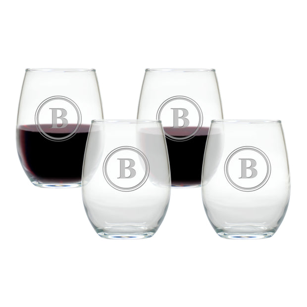 Personalized Stemless Wine Tumbler - Set of 4, 15 oz each - The National Memo