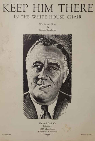 1940 Roosevelt Chair Sheet Music