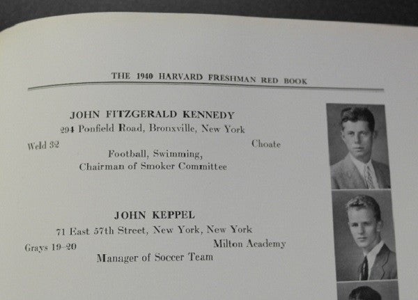 John F. Kennedy's Freshman Yearbook
