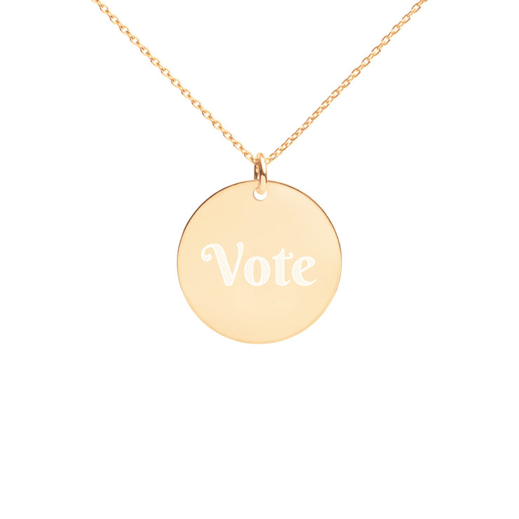 Engraved Vote Necklace - The National Memo