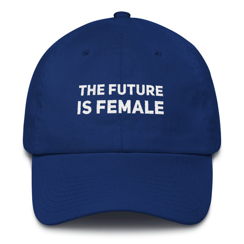 The Future is Female Blue Cotton Hat