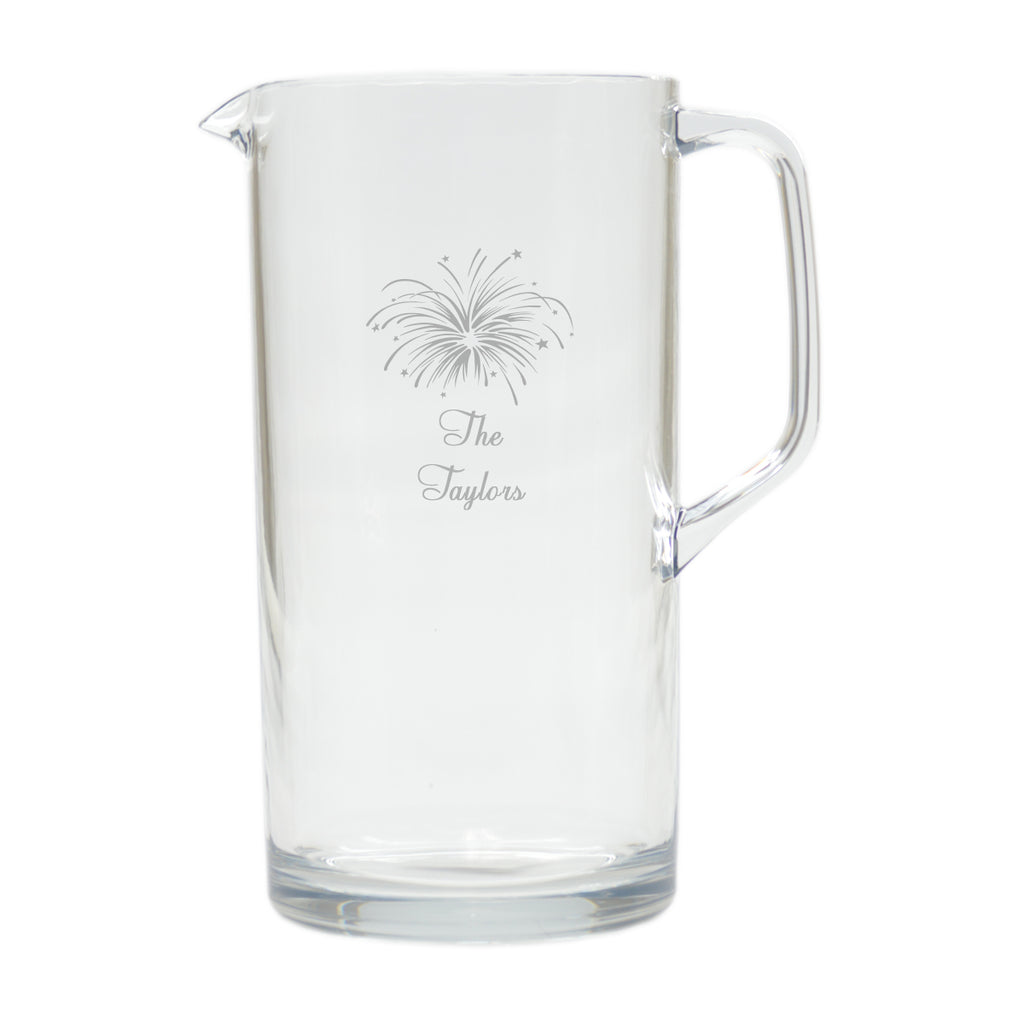Personalized Acrylic Pitcher, 64 oz. - The National Memo