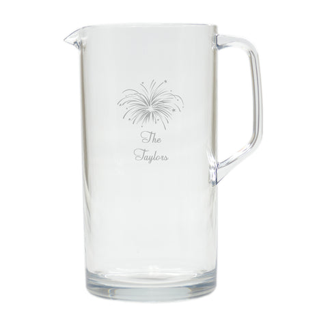 Personalized Acrylic Pitcher, 64 oz.