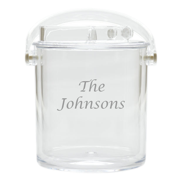Personalized Ice Bucket with Tongs - The National Memo