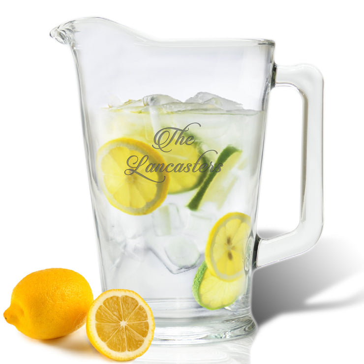 Personalized Glass Pitcher, 60 oz. - The National Memo