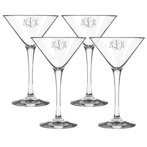 Personalized Tritan Martini Cocktail Glasses, Set of 4, 8 oz each