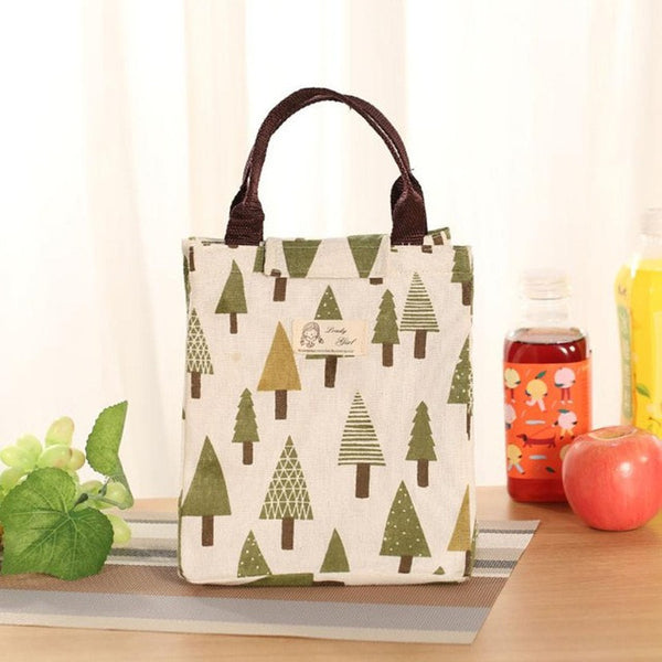 Insulated Canvas Lunch Tote