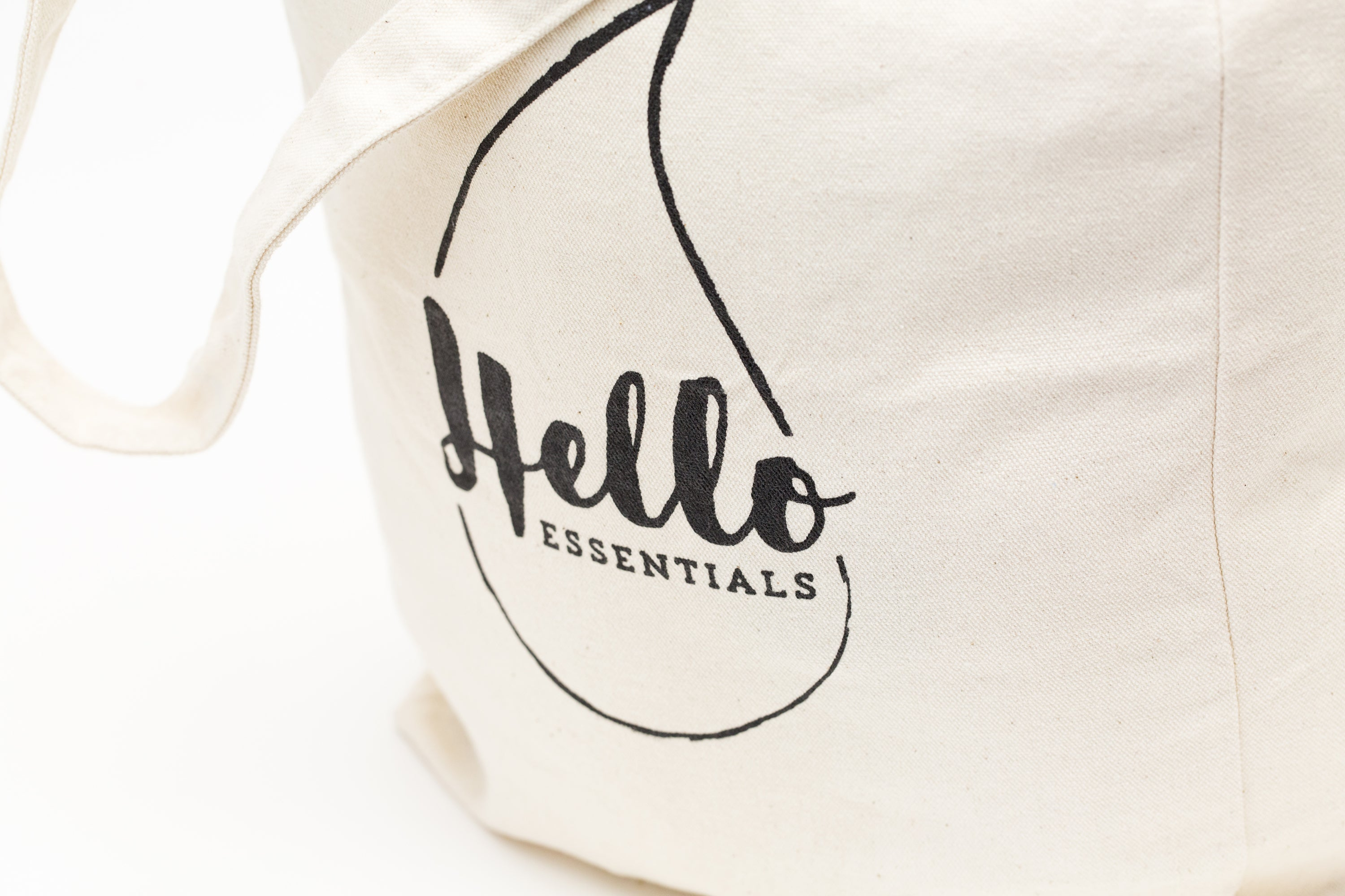 Hello Essentials Organic Cotton Tote Bag