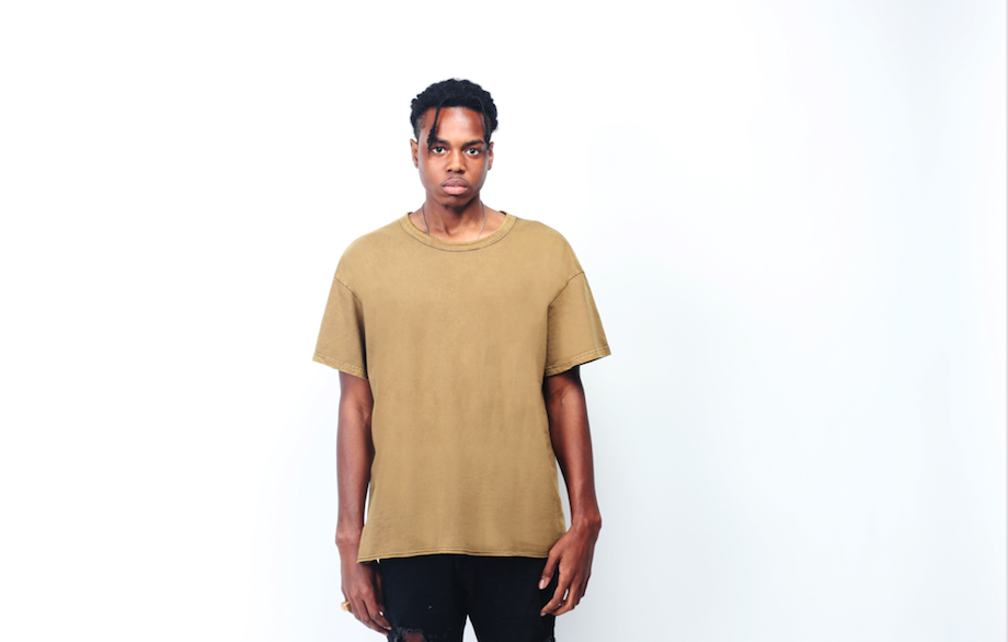 BASIC WASHED T-SHIRT / OLIVE