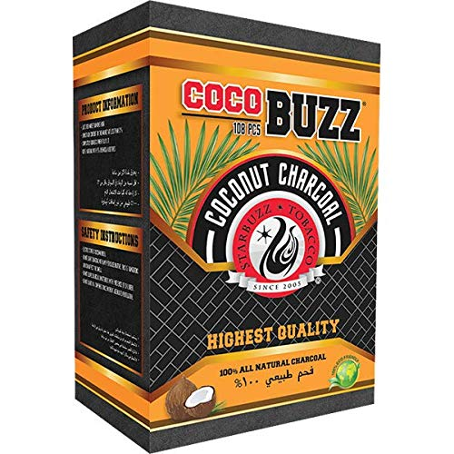 CocoBuzz Coconut Charcoal 108pc