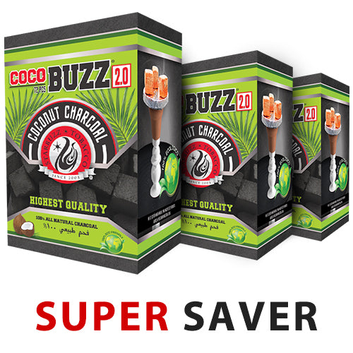 CocoBuzz 2.0 Coconut Charcoal Super Saver-CUBES