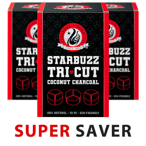 Starbuzz Tri Cut Coconut Charcoal Super Saver