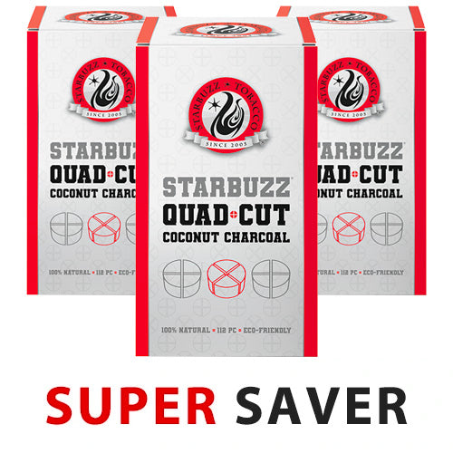 Starbuzz Quad Cut Coconut Charcoal Super Saver