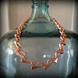 Full Copper Nail Necklace
