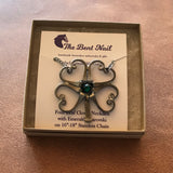Four Leaf Clover Necklace or Brooch