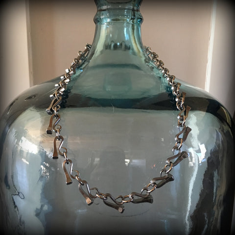 Full Race Horse Nail Necklace