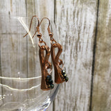 Copper Nail Beaded Earrings