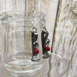 Race Horse Nail Beaded Earrings