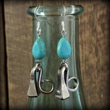 Turquoise Accented Earrings