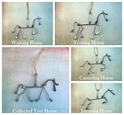 Horse Figurines Wall Hanging/Ornament