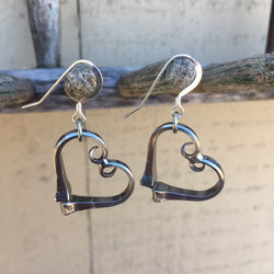 Race Horse Nail Heart Earrings