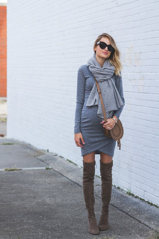 Maternity Style Knee High Boots