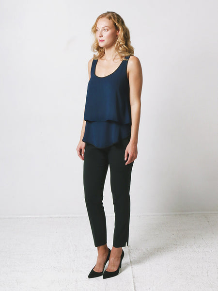 Maia Moda Maternity / Nursing Top Navy