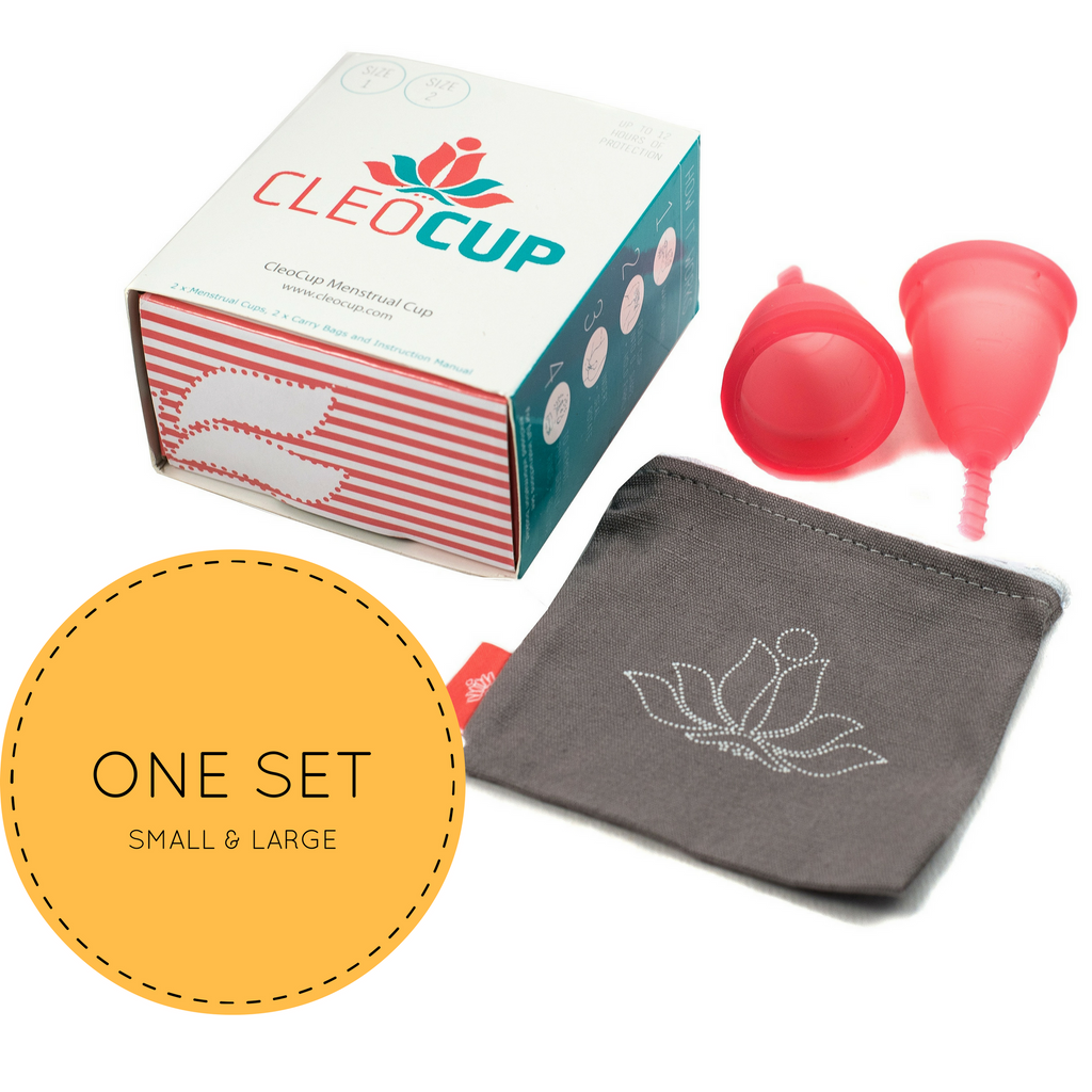 Cleo Cup Starter Kit - Set Of 2 Menstrual Cups - SMALL and LARGE