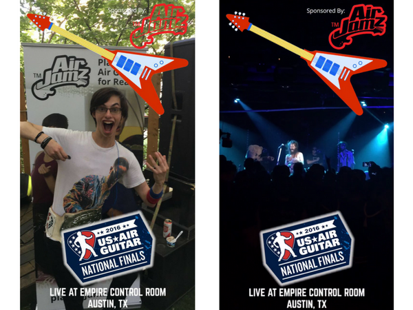 AirJamz & US Air Guitar Championships, Snapchat Filter