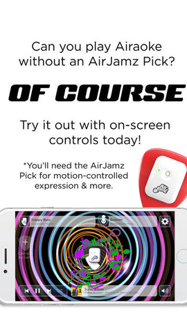 AirJamz Airaoke, On-Screen Controls