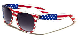 Red, White and Blue Flag Sunglasses - AirJamz