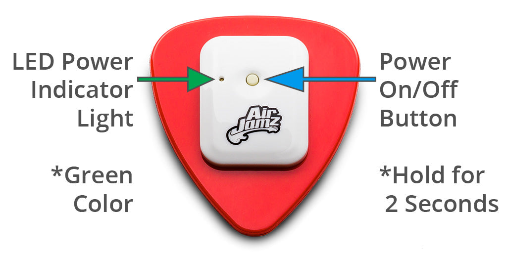 How to Power On and Off your AirJamz Device