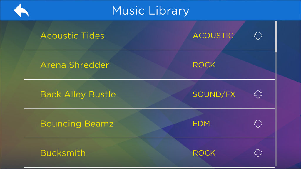 AirJamz Music Library