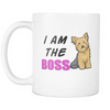 I Am The BOSS Yorkie MUG - White-SPECIAL!