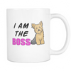I Am The BOSS Yorkie MUG - White