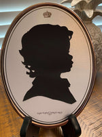 5 x 7 Silhouette Oval