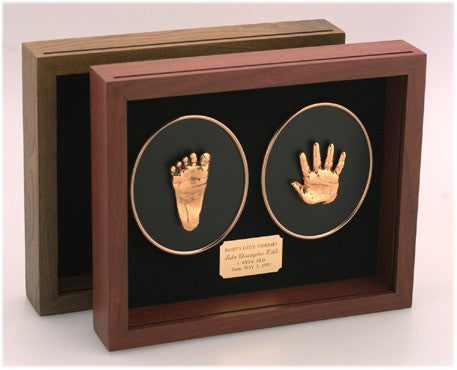 MEDIUM SOLID WOOD SHADOWBOX - HAND & FOOT