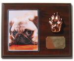 Patty-Paws Dog Plaque with Cherry Finish